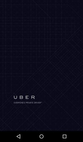 Uber Londyn ekran powitalny